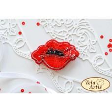 Bead Art Brooch Kit - Poppy