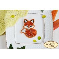 Bead Art Brooch Kit - Fox