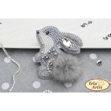 Bead Art Brooch Kit - Little Hare