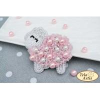 Bead Art Brooch Kit - Lamb