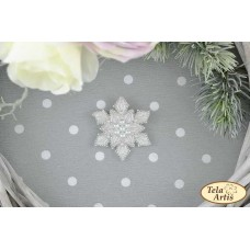 Bead Art Brooch Kit - Snowflake