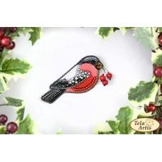 Bead Art Brooch Kit - Bullfinch