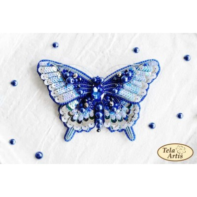 Bead Art Brooch Kit - Blue Butterfly