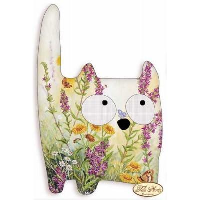Bead Art Cushion - Very Wild Cat