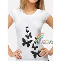 Bead Art T-Shirt Kit - Black Butterflies