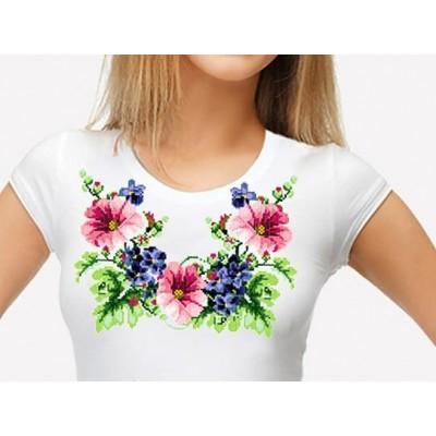 Bead Art T-Shirt Kit - Hollyhocks