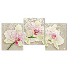 Bead Art Kit - Orchids Flower Triptych