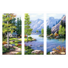Bead Art Kit - Lakeside Cottage Triptych