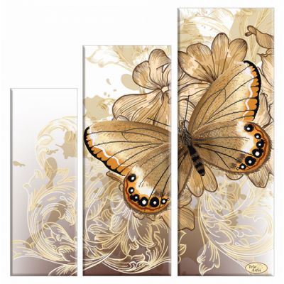 Bead Art Kit - Butterfly Triptych `Velvet Wings`