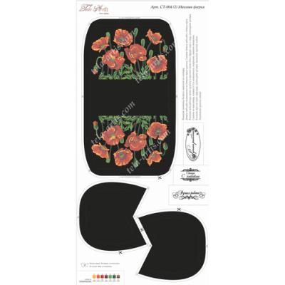 Bead Art Kit - Poppies on Black Purse