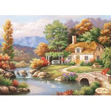Bead Art Kit - Autumn Charm (Cottage by Stream)