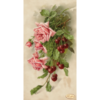 Bead Art Kit - Hanging Pink Roses with Cherries