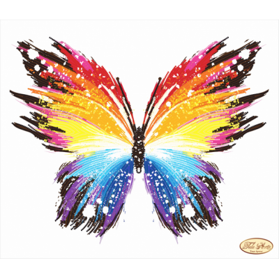 Bead Art Kit - Rainbow Butterfly