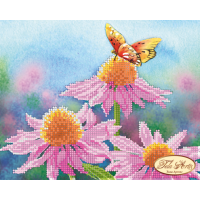 Bead Art Kit - Small Pink Daisy (Flowers & Butterfly)