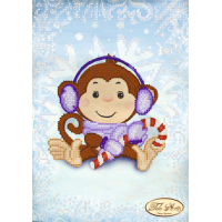 Bead Art Kit - Winter Monkey