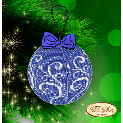 Bead Art Bauble Kit - Blue Hoarfrost