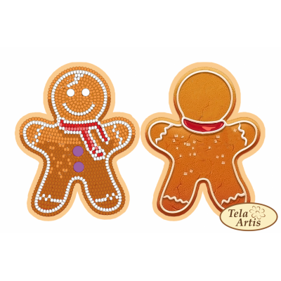 Bead Art Bauble Kit - Gingerbread Man
