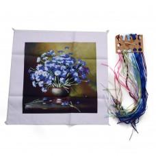 3D Chrysanthemum Bouquet Pattern, Oxford Silk Ribbon Kit