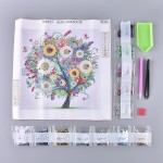 Rhinestone Art Kit - Colourful Tree