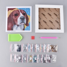 Rhinestone Art - Framed Picture - Dog