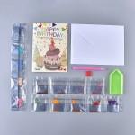 Rhinestone Art - Birthday Cake Card