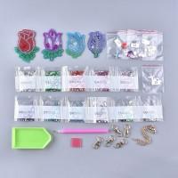 Rhinestone Art Kit - Flower Keyrings