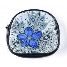 Rhinestone Art - Blue Flower Bag