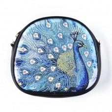 Rhinestone Art - Peacock Bag