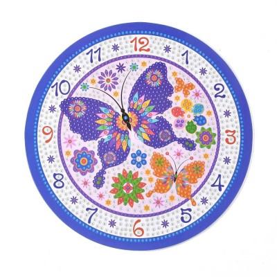 Rhinestone Art Kit - Butterfly Clock