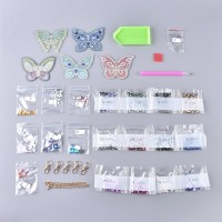Rhinestone Art Kit - Butterfly Keyrings
