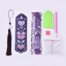Rhinestone Art Kit - Butterfly Tassel Bookmark