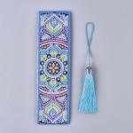 Rhinestone Art Kit - Blue Mandala Tassel Bookmark